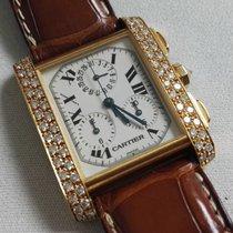 Cartier Tank Francaise Chronograph 18K Gold Diamond Box &...