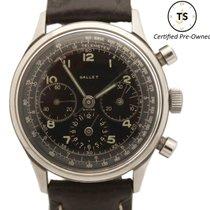 Gallet Hour Recorder Chronograph Jim Clark Black Dial JXR Watch