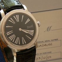 Piaget Altiplano 18K WG Cal 430P Blue Dial Service 05 2014,Ful...