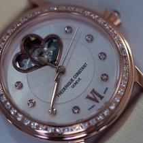Frederique Constant Double cœur Diamants nacre plaqué or rose
