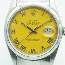 Rolex Datejust 36 Stainless Steel Jubilee Yellow Roman Dial c...