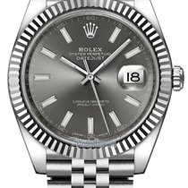 Rolex Datejust 41mm Stainless Steel 126334 Dark Rhodium Index...