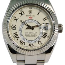 Rolex Sky-Dweller 18kt White Gold Ivory Roman Dial-326939