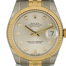 Rolex Datejust Medium Stahl Gelbgold Diamond Automatik Jubilé...