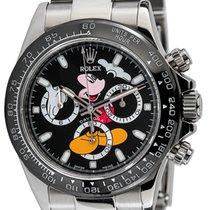 Rolex Daytona Steel Black Mickey Mouse Dial Black Ceramic...
