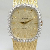 Geneve Ladies 14k Yellow Solid Gold 1 1/2ct Diamond Vintage ...