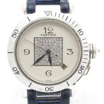 Cartier Pasha Solid 18k White Gold Ref. 2353 W/ Factory...