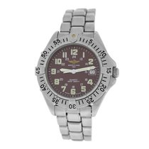 Breitling Authentic Unisex Colt A57035 Red Burgundy Steel