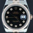 Rolex Datejust gold/steel jubilee black dial 36mm