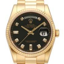 Rolex Day-Date 36 18 kt Gelbgold Ref. 118238 Schwarz DIA