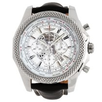 Breitling Bentley 05 Unitime 49mm White Dial Brown Leather...