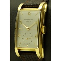 Patek Philippe | Rectangular Vintage 18 Kt Yellow Gold, From...