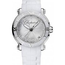 Chopard 278551-3003 Happy Sport Medium White with 5 Floating...
