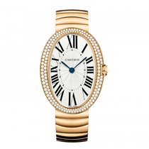 Cartier Baignoire Rose Gold Diamonds Watch