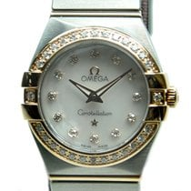 Omega Constellation 18 K Rose Gold With Diamonds White Quartz...