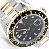 Rolex Mens 18K/SS GMT-Master II - Black Dial - 16753