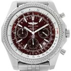 Breitling Bentley Motors Burgundy Dial Chronograph Mens Watch...