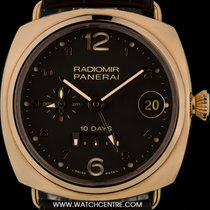 Panerai 18k R/G Unworn Radiomir 10 Days GMT Oro Rosso B&P...