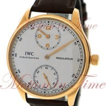 IWC Portuguese Regulateur, Silver Dial - Rose Gold on Strap
