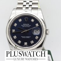 Rolex DATEJUST 116234 Diamond Blue dial diamanti