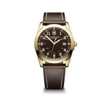 Victorinox Swiss Army Infantry brown dial, leather strap,...