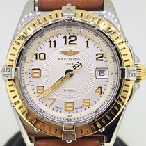 Breitling Wings Lady Gold/Steel  /w Original Brown Strap[ No...