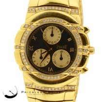 Piaget Tanagra Solid 18k Yg(148.8gr) Chrono W/ Custom Diamond...
