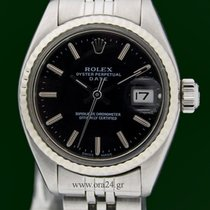 Ρολεξ (Rolex) Date 6917/4 Lady White Gold Bezel Black Dial...