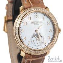 Patek Philippe Ladies  18k Rose Gold Moon Phase Watch Diamond...