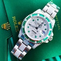 Rolex GMT-Master II Custom Emerald & Diamond set