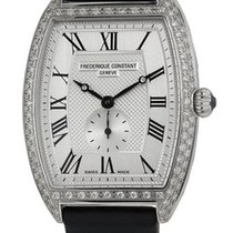 Frederique Constant Art Deco Steel & Diamond Womens Satin...