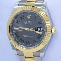 Rolex Datejust II 116333 41mm 18k Yellow Gold /ss Roman Grey...