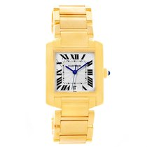 Cartier Tank Francaise Large 18k Yellow Gold Automatic Watch...