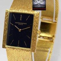 Vacheron Constantin Vintage Mens 18k Gold Bracelet Watch 17J 7255