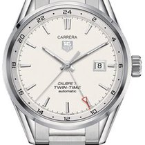 TAG Heuer Carrera Calibre 7 Twin-Time Automatik 41mm  WAR2011....