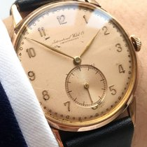IWC Serviced IWC Handwinding watch in solid 18ct pink gold case