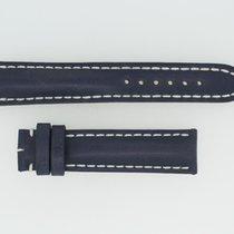 Breitling Kalbslederband 20/18 Länge 120/80 Blau