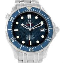 Omega Seamaster Midsize James Bond Blue Wave Dial Watch...