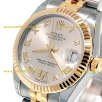Rolex LADY DATEJUST  31MM  Silver Steel Yellow Gold 178273