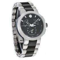 Movado Verto Mens Black Swiss Chronograph Quartz Watch 0606546