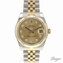 Rolex Datejust 31 Rolesor Yellow Fluted / Jubilee / Champagne...