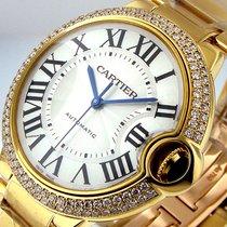 Cartier Ballon Bleu Mid Size We9004z3 Yellow Gold 18k 37 Mm...