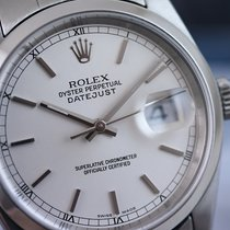 Rolex Datejust  #16200 Silver 36mm Steel Smooth Bezel Oyster...