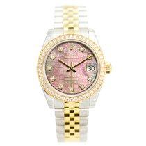 勞力士 (Rolex) Lady Datejust 18k Gold Diamond Steel Pink Automati...