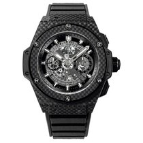 Hublot King Power Unico 48mm Automatic Carbon Fiber Mens Watch...