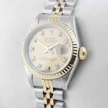 Rolex LADY DATEJUST STAHL / GOLD DIAMANTEN FULLSET Service 03/17