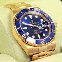 Rolex Submariner 116618 18k Yellow Gold Ceramic Bezel Watch...