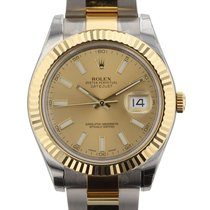 Rolex Datejust II 41mm Stainless Steel and 18KYG 116333 Mens...