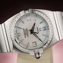 Omega CONSTELLATION DOUBLE EAGLE CHRONOMETER DIAMONDS LADY LADIES