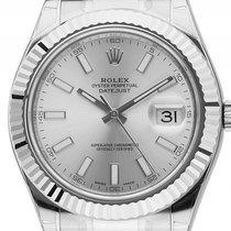Rolex Datejust II Stahl Weißgold Automatik Armband Oyster 41mm...